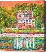 House By The Tidal Creek At Pawleys Island Acrylic Print