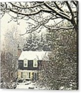 House In Snow Acrylic Print