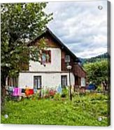 House In The Capathians Village Acrylic Print