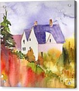House In The Country Acrylic Print
