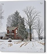 House In Winter Acrylic Print
