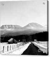 House Mountains Winter Acrylic Print