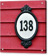 House Number. Acrylic Print
