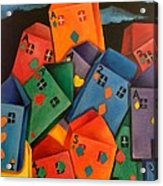 House Of Cards Acrylic Print by Lisa Bentley