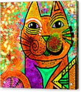 House Of Cats Series - Blinks Acrylic Print