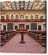 House Of Representatives - Texas State Capitol Acrylic Print