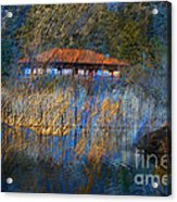 House On Lake Acrylic Print