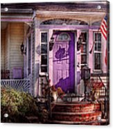 House - Porch - Cranford Nj - Lovely In Lavender  Acrylic Print