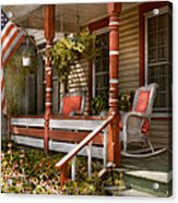 House - Porch - Traditional American Acrylic Print by Mike Savad