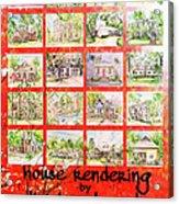 House Rendering Card Acrylic Print