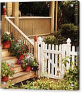 House - Rutherford Nj - My Grandmother's Garden  Acrylic Print