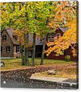 House Surrounded With Colors Acrylic Print