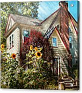 House - Westfield Nj - The Summer Retreat  Acrylic Print by Mike Savad