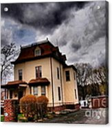 House With Storm Approaching Acrylic Print