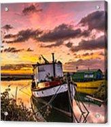 Houseboats On Velator Quay Acrylic Print