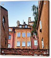 Houses In The Old Town Of Warsaw Acrylic Print
