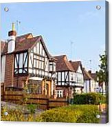 Houses In Woodford England Acrylic Print