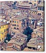 Houses Of Old City Of Siena - Tuscany - Italy - Europe Acrylic Print