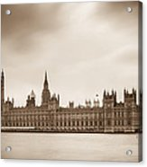 Houses Of Parliament And Elizabeth Tower In London Acrylic Print