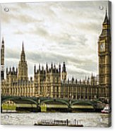 Houses Of Parliament On The Thames Acrylic Print