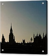 Houses Of Parliament Skyline In Silhouette Acrylic Print