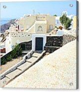 Houses Oia Santorini Acrylic Print