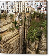 Houses On A Rock In Ronda Acrylic Print