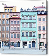 Houses On Old Town Market Place Acrylic Print