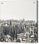 Houses On The Mountain In Winter Acrylic Print