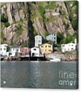 Houses With Expressive Brushstrokes Acrylic Print