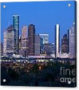 Houston Night Skyline Acrylic Print