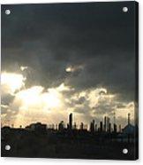 Houston Refinery At Dusk Acrylic Print