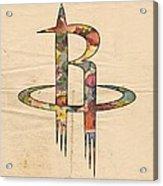 Houston Rockets Logo Art Acrylic Print