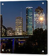 Houston Skyline At Night Acrylic Print