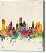Houston Texas Skyline Acrylic Print by Michael Tompsett