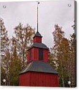 Houtskari Church Clock Tower Acrylic Print