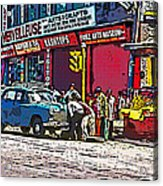 How To Change A Tire Comic Acrylic Print by Steve Harrington