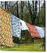 How To Dry An American Quilt Acrylic Print