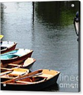 Hoyt Lakes Rowboats In Delaware Park Buffalo Ny Oil Painting Effect Acrylic Print