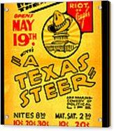 Hoyts A Texas Steer Acrylic Print