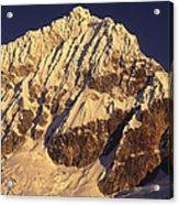 Mt Huandoy Sunrise Cordillera Blanca Acrylic Print