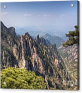 Huangshan Mountain Chinese Famous Landscape Acrylic Print