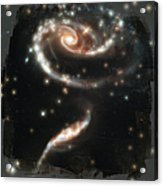 Hubble - Rose Made Of Galaxies Acrylic Print