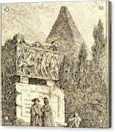 Hubert Robert, French 1733-1808, The Sarcophagus Acrylic Print