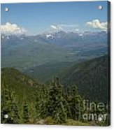 View Of The Rockies From Huckleberry Mountain Glacier National Park Acrylic Print