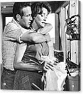 Hud, From Left, Paul Newman, Patricia Acrylic Print
