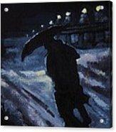 Huddling Through The Storm Acrylic Print