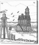 Hudson-athens Lighthouse Acrylic Print
