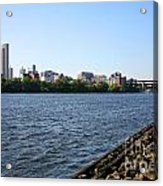 Hudson River And Albany Skyline Acrylic Print