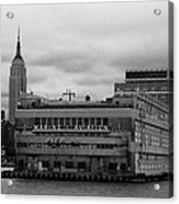 Hudson River Marine Aviation Pier 57 New York City Acrylic Print